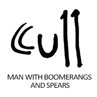 man-with-boomerangs-and-spears